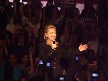 Presidentiële kandidaat op universitaire campus royalty-vrije stock fotografie