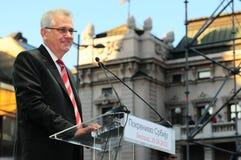 Presidentiële kandidaat Tomislav Nikolic Royalty-vrije Stock Fotografie
