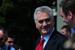 Presidentiële kandidaat Tomislav Nikolic Royalty-vrije Stock Foto's