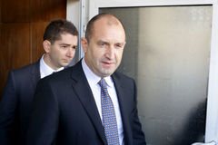 Presidentiële kandidaatpens Radev Stock Foto's