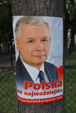 Presidentiële poetsmiddelkandidaat Jaroslaw Kaczynski Royalty-vrije Stock Fotografie