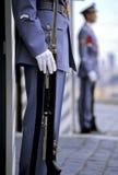 Presidentiële schildwachten Praag Stock Foto's