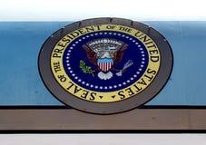 Presidentiële verbinding op Air Force One stock foto