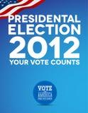 Presidentiële verkiezing 2012 Stock Foto's