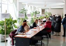 Presidentiële verkiezingen in Rusland Royalty-vrije Stock Foto's