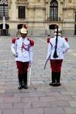 Presidentiële Wacht, het Plein DE Armas, Lima, Peru royalty-vrije stock foto