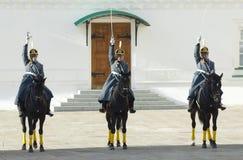 Presidentiële wachten op paarden Stock Foto