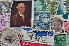 Presidenti degli Stati Uniti sui bolli Fotografia Stock