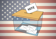 Presidential american election ballot box with some votes Royalty Free Stock Photos