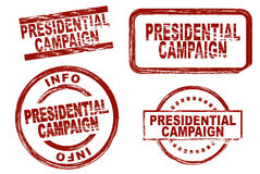 Presidential campaign ink stamp set Royalty Free Stock Photos