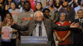 Presidential Candidate Bernie Sanders Holds Los Angeles Campaign Rally Royalty Free Stock Image