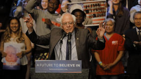 Presidential Candidate Bernie Sanders Holds Los Angeles Campaign Rally Royalty Free Stock Photography