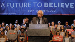 Presidential Candidate Bernie Sanders Holds Los Angeles Campaign Rally Royalty Free Stock Photo