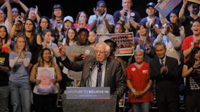 Presidential Candidate Bernie Sanders Holds Los Angeles Campaign Rally Stock Image