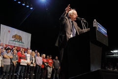 Presidential Candidate Bernie Sanders Holds Los Angeles Campaign Rally Royalty Free Stock Photos