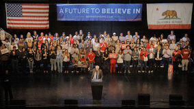 Presidential Candidate Bernie Sanders Holds Los Angeles Campaign Rally Stock Photos