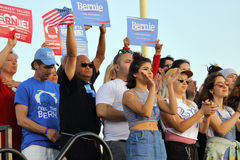 Presidential Candidate Bernie Sanders rallies supporters in Sant Stock Photo