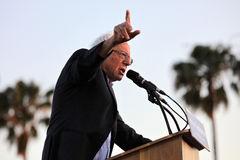 Presidential Candidate Bernie Sanders rallies supporters in Sant Stock Images