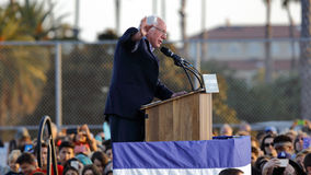 Presidential Candidate Bernie Sanders rallies supporters in Sant Stock Photography
