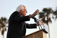 Presidential Candidate Bernie Sanders rallies supporters in Sant Stock Photos