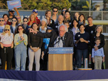 Presidential Candidate Bernie Sanders rallies supporters in Sant Royalty Free Stock Image