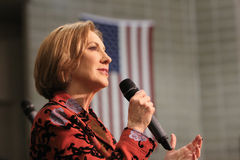 Presidential Candidate Carly Fiorina Stock Images