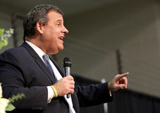 Presidential Candidate Governor Chris Christie of New Jersey Stock Image
