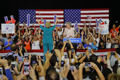 Presidential Candidate Hillary Clinton Campaigns in Oxnard, CA a Stock Photography