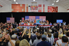Presidential Candidate Hillary Clinton Campaigns in Oxnard, CA a Royalty Free Stock Image