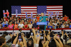 Presidential Candidate Hillary Clinton Campaigns in Oxnard, CA a Royalty Free Stock Photography