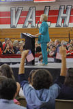 Presidential Candidate Hillary Clinton Campaigns in Oxnard, CA a Stock Photos