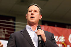 Presidential Candidate Rick Santorum Royalty Free Stock Photos