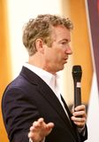 Presidential Candidate Senator Rand Paul. Presidential Candidate, Senator Rand Paul, addresses the public at a campaign stop in Sioux Center, IA on July 1, 2015 Royalty Free Stock Images