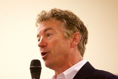 Presidential Candidate Senator Rand Paul. Presidential Candidate, Senator Rand Paul, addresses the public at a campaign stop in Sioux Center, IA on July 1, 2015 Royalty Free Stock Photo