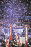 Presidential celebration at the 1992 Democratic Convention in Madison Square Garden, Manhattan, New York Royalty Free Stock Photography
