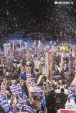 Presidential celebration at the 1992 Democratic Convention in Madison Square Garden, Manhattan, New York Stock Photo