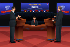 Presidential Debate. A vector illustration of presidential debate stock illustration