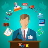 Presidential Debates Icons Stock Photography