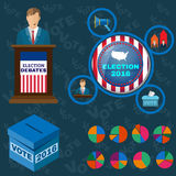 Presidential Debates Icons royalty free illustration