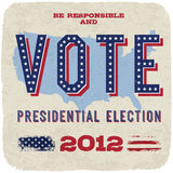 Presidential election 2012. Presidential election 2012 poster template. Vector, eps10 Stock Photos