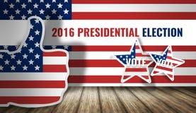 Presidential election 2016 america flag 3d render. Presidential election 2016 america flag 3d Royalty Free Stock Image