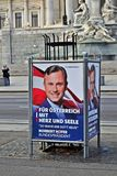 Presidential election Austria. Poster of presidential election candidate  in Vienna, Austria Stock Photos