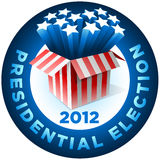 Presidential Election Badge. Exploding American star box. All elements are layered in vector file Stock Photos