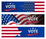 Presidential election banner background. US Presidential election 2020. stock illustration