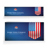 Presidential election 2016 banner or poster.  Stock Image