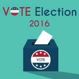 Presidential Election Day Vote Box. American Flag's Symbolic Ele. Ments - Red Stripes and White Stars Royalty Free Stock Photography