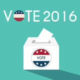 Presidential Election Day Vote Box. American Flag's Symbolic Ele. Ments - Red Stripes and White Stars Royalty Free Stock Images
