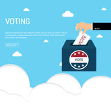 Presidential Election Day Vote Box. American Flag& x27;s Symbolic Ele Royalty Free Stock Photo