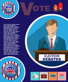 Presidential Election Debates Campaign Banner Royalty Free Stock Photography