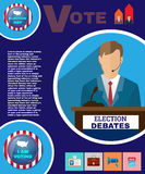 Presidential Election Debates Campaign Banner Royalty Free Stock Images